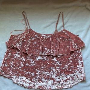 Willow and Clay pink velvet camisole